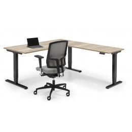 Flex 3 elektrisch Zit/Sta bureau met hoek-opstelling