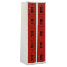 Flex Lockerkast 2x5-vaks (180x60x50cm)