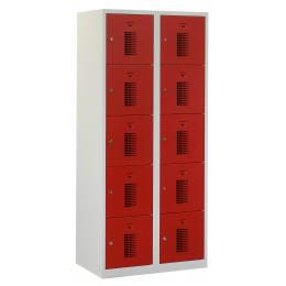 Flex Lockerkast 2x5-vaks (180x80x50cm)