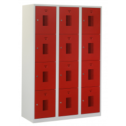 Flex Lockerkast 3x4-vaks (180x120x50cm)