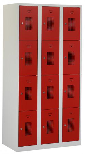 Flex Lockerkast 3x4-vaks (180x90x50cm)